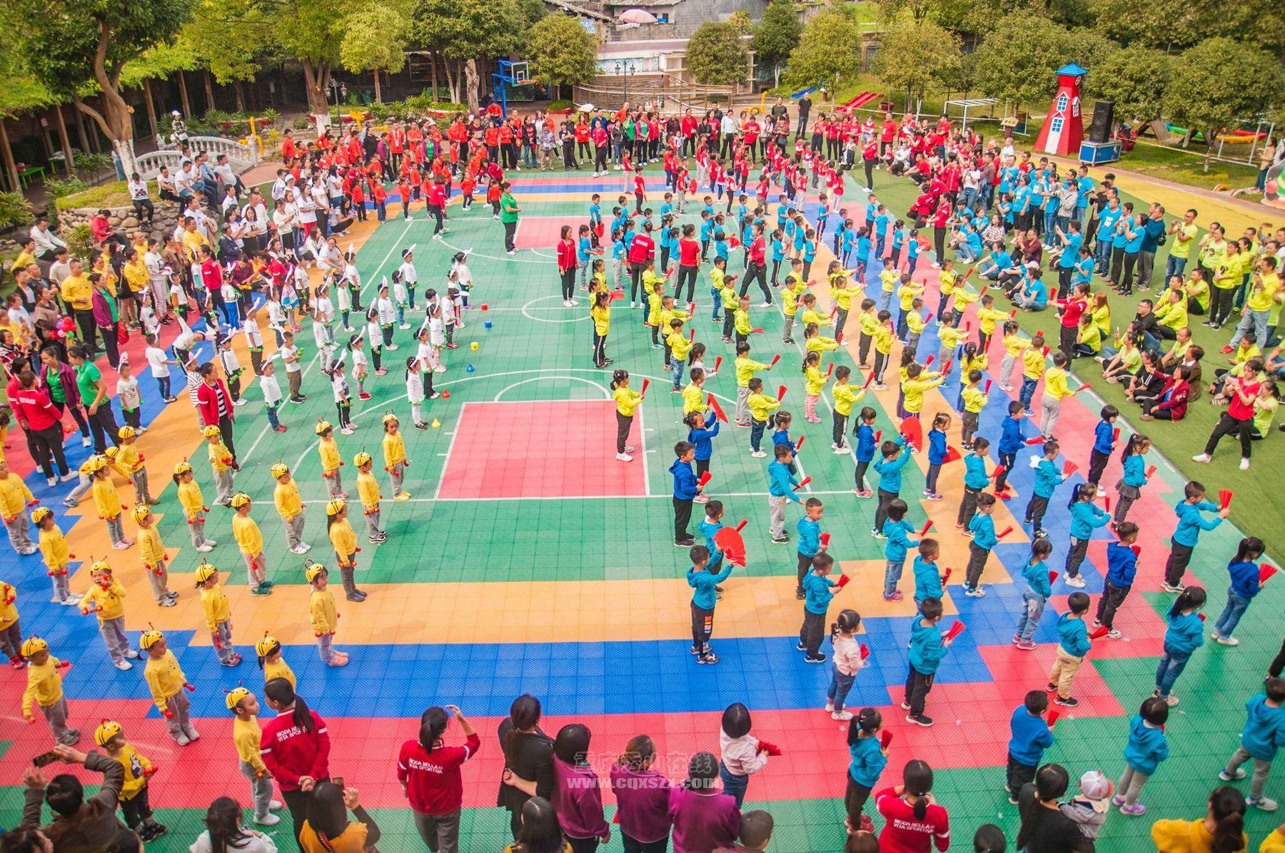"""金秋时节,我们迎来了秀山实验婴幼儿园第三届""""疯狂动物乐翻天""""亲子运动会"""